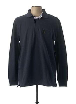 Polo sans manche bleu GS CLUB pour homme