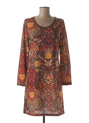Robe courte orange LOLESFILLES pour femme