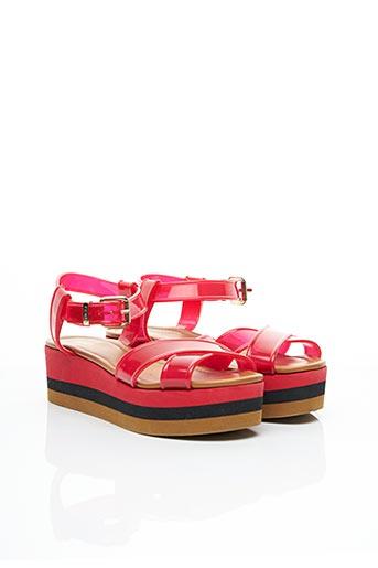 Sandales/Nu pieds rouge FENDI pour femme