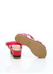 Sandales/Nu pieds rouge FENDI pour femme seconde vue