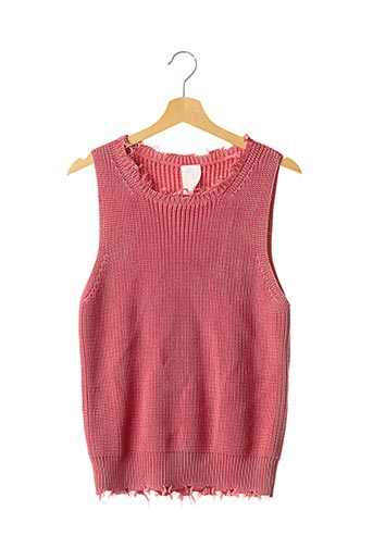 Pull col rond rose P.JEAN pour femme