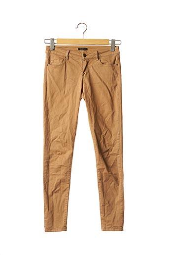 Pantalon casual marron MASSIMO DUTTI pour femme