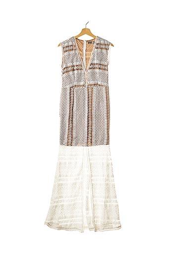 Robe longue blanc BOOHOO pour femme