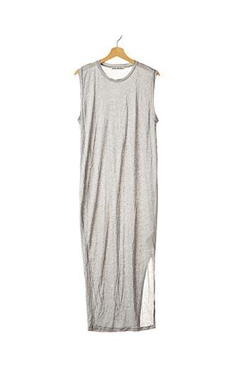 Robe longue gris ACNE STUDIOS pour femme