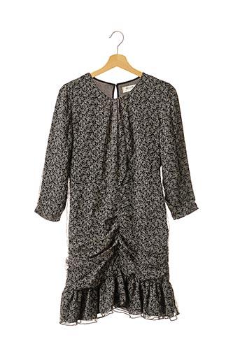 Robe mi-longue noir BALZAC pour femme