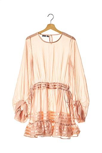 Robe mi-longue rose BOOHOO pour femme