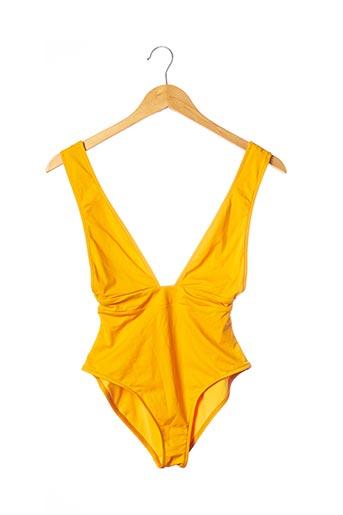 Maillot de bain 1 pièce jaune ANJA PARIS pour femme