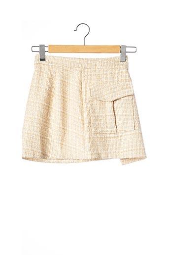 Jupe courte beige CHIC WISH pour femme
