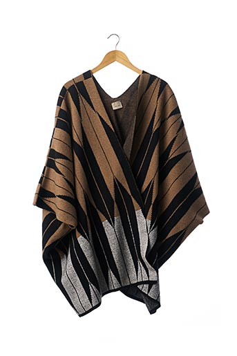 Poncho beige CIRCUS HOTEL pour femme