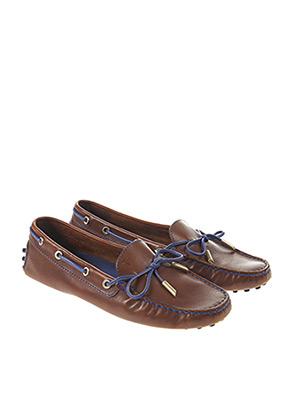 Chaussures bâteau marron TOD'S pour femme