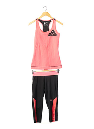 Top/pantalon rose ADIDAS pour femme