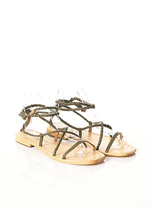 Sandales/Nu pieds vert BONS BAISERS DE PANAME pour femme