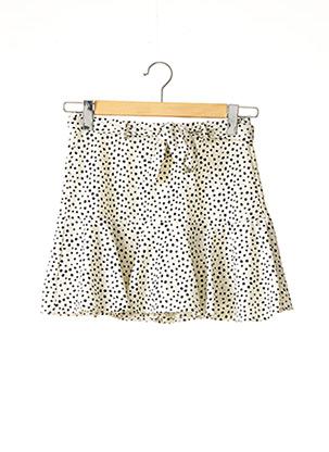 Jupe short beige STRADIVARIUS pour femme