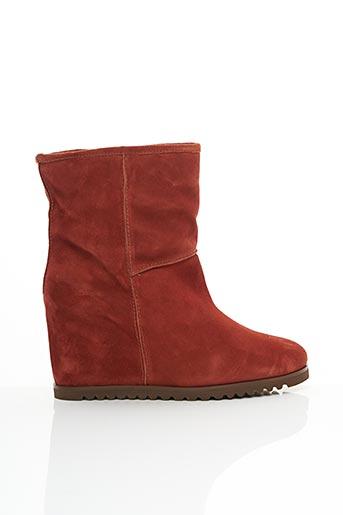 Bottines/Boots orange FABIO RUSCONI pour femme