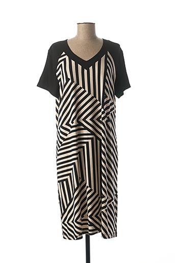 Robe mi-longue noir EGATEX pour femme