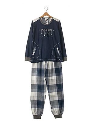 Pyjama bleu REBELLE pour femme