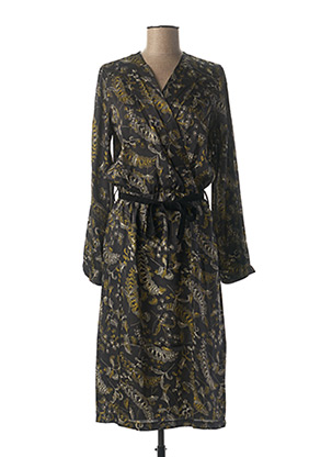 Robe mi-longue noir LA FEE MARABOUTEE pour femme