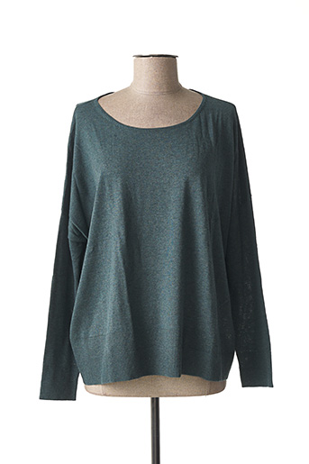 Pull col rond vert ZAPA pour femme