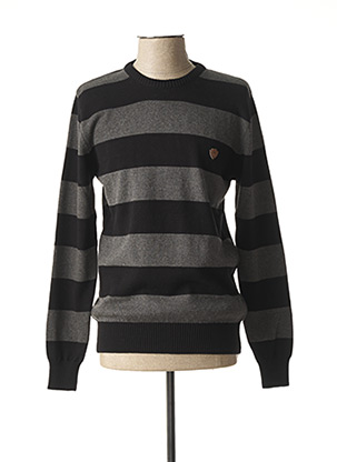 Pull col rond gris GIORGIO DIMARE pour homme