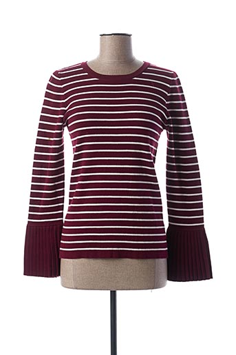 Pull col rond rouge CACHE CACHE pour femme