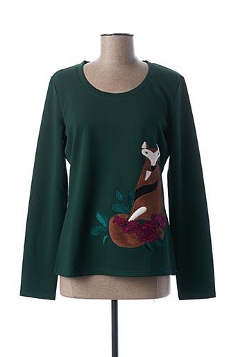 T-shirt manches longues vert CAMOMILLA pour femme