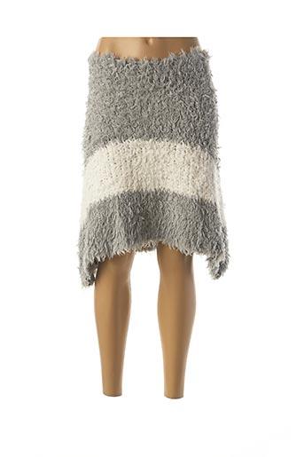 Jupe mi-longue gris CAMOMILLA pour femme