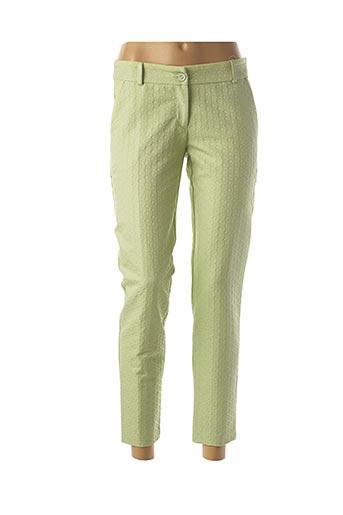 Pantalon 7/8 vert ACCESS FASHION pour femme