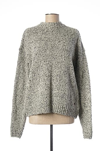 Pull col rond gris MUSTANG pour femme