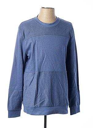 Sweat-shirt bleu MUSTANG pour homme