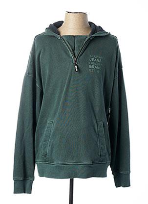 Sweat-shirt vert MUSTANG pour homme