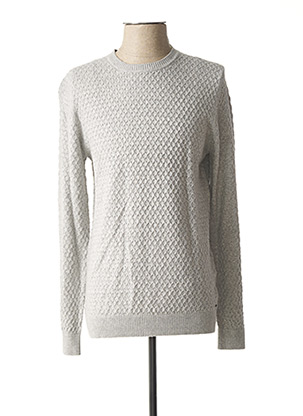 Pull col rond gris MEXX pour homme