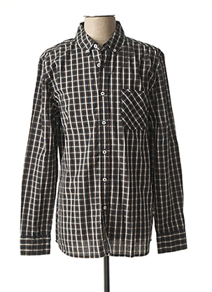 Chemise manches longues vert MUSTANG pour homme