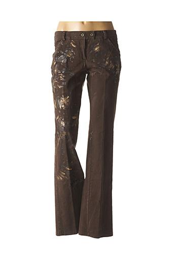 Jeans bootcut marron DP JEANS pour femme