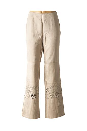Pantalon casual beige DIDIER PARAKIAN pour femme