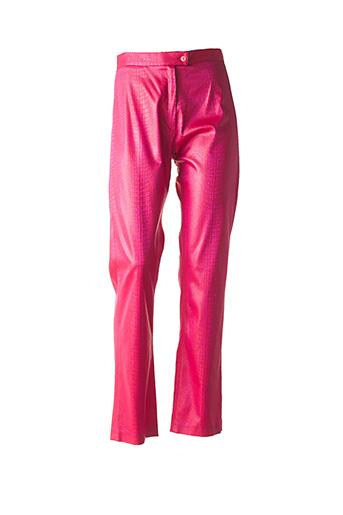 Pantalon casual rose FILLE DU SUD pour femme