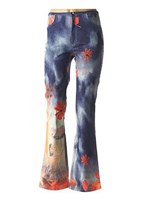 Pantalon casual bleu DP JEANS pour femme