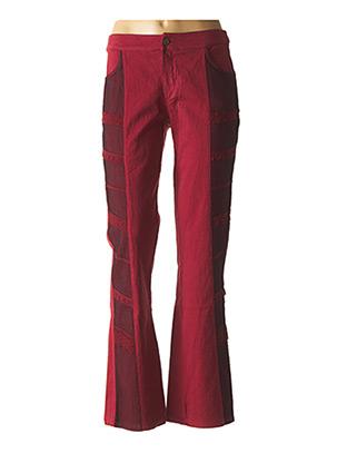 Pantalon casual rouge DP JEANS pour femme