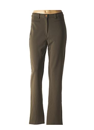 Pantalon casual vert FUEGO WOMAN pour femme