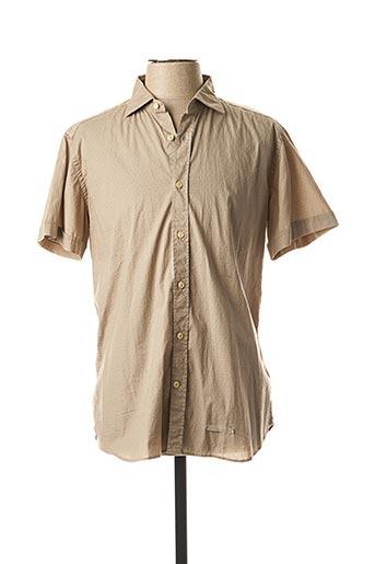 Chemise manches courtes beige TINTORIA MATTEI 954 pour homme