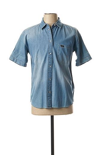 Chemise manches courtes bleu LEE pour homme