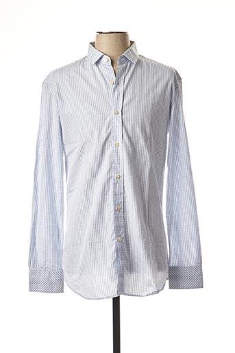Chemise manches courtes bleu PAUL SMITH pour homme