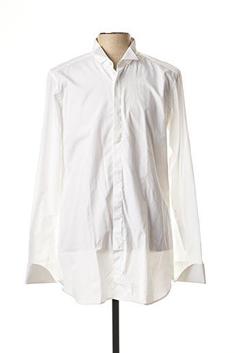 Chemise manches longues blanc CALIBAN pour homme