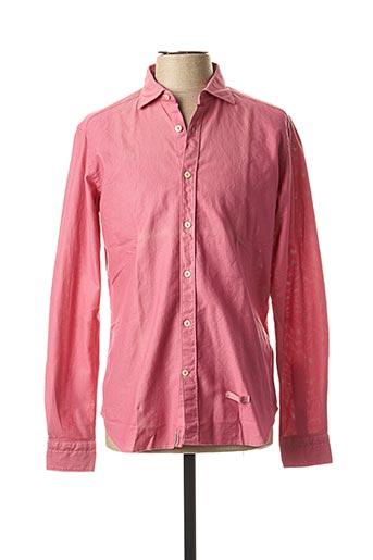 Chemise manches longues rose TINTORIA MATTEI 954 pour homme