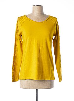 T-shirt manches longues jaune MALOKA pour femme
