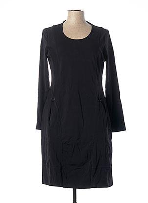 Robe mi-longue noir MALOKA pour femme