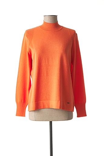 Pull col cheminée orange LUCIA pour femme