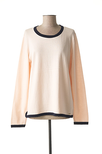 Pull col rond rose ARMOR LUX pour femme