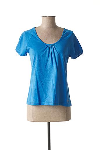 T-shirt manches courtes bleu ARMOR LUX pour femme