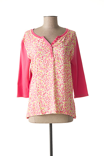 T-shirt manches longues rose ARMOR LUX pour femme