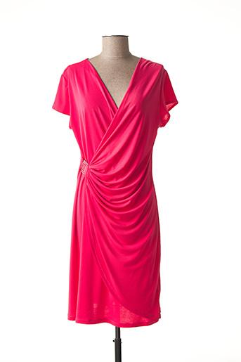 Robe mi-longue rose BARANDI pour femme